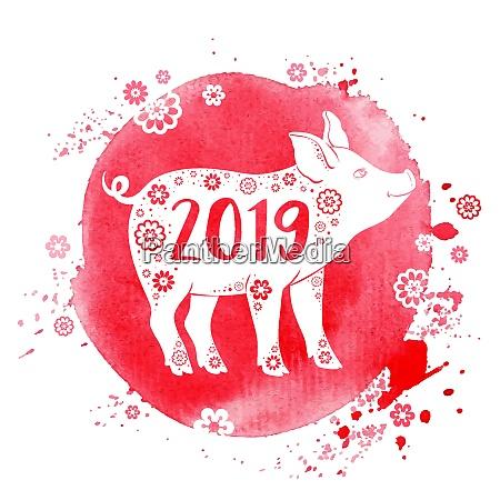 cute gris symbol pa kinesiske stjernetegn