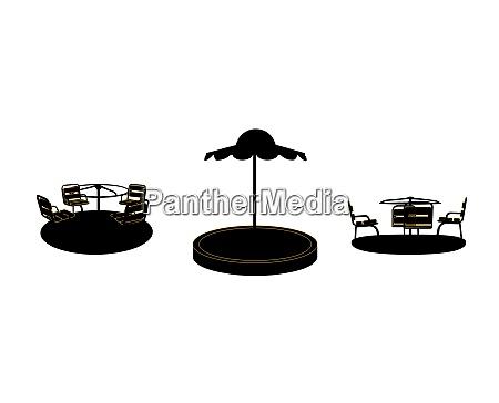 set of silhouette swing black on