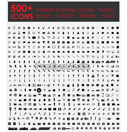 more 500 icons internet business money