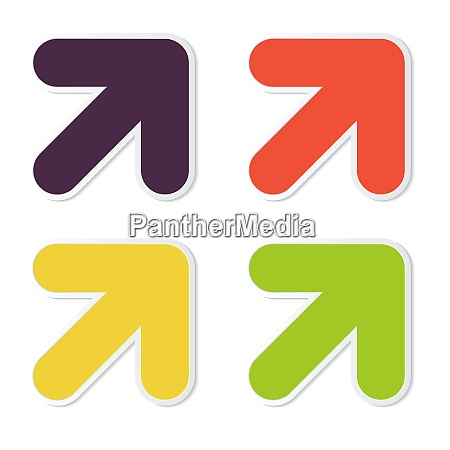 abstract vector arrow icon template vector