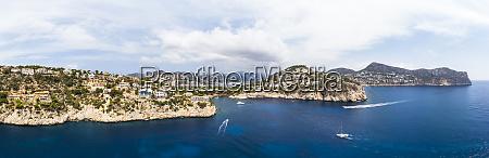 spain mallorca aerial view of cala