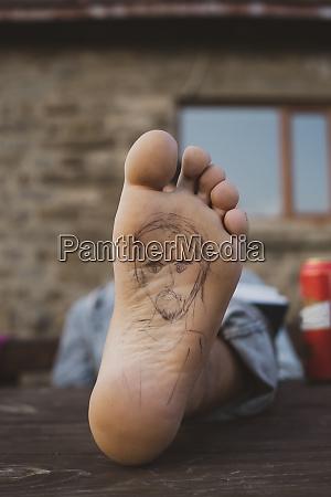 sal af foden af en hiker