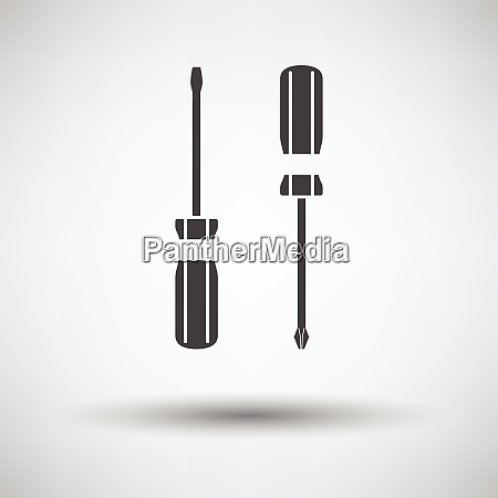 screwdriver icon screwdriver icon on gray