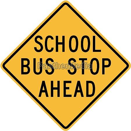 skolebus, stop, forude - 26434748