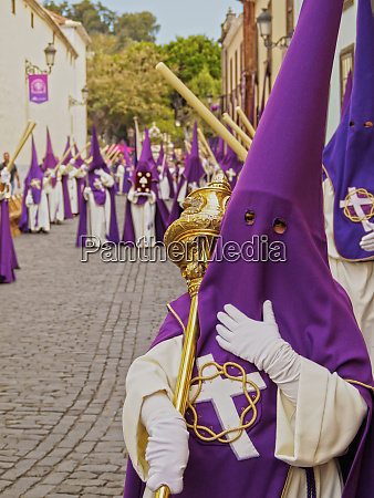 traditional easter holy week procession in