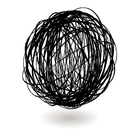 form spiral formet rund hvid sort
