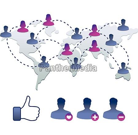 samling af facebook ikoner vektor illustration