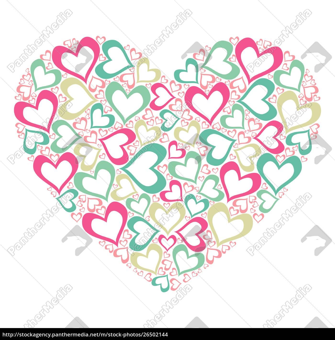 stiliseret, hjerte - 26502144