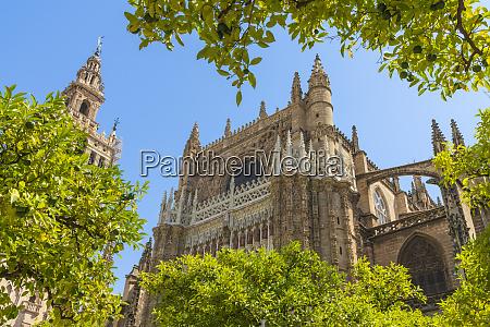 the gothic baroque giralda belfry of
