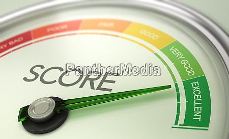 business credit score maler koncept fremragende