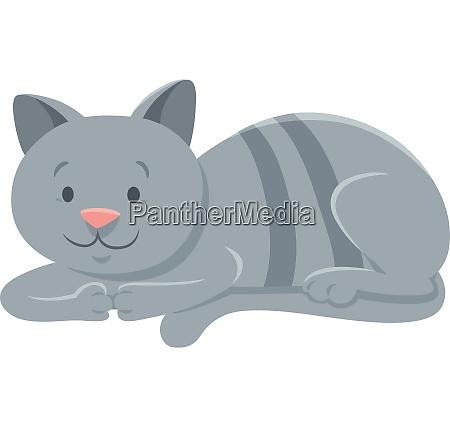 funny gra kat tegneserie animalsk karakter