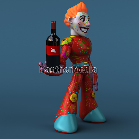 rod robot 3d illustration