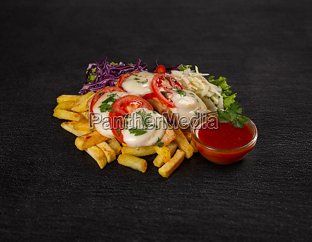 unhealthy eating concept