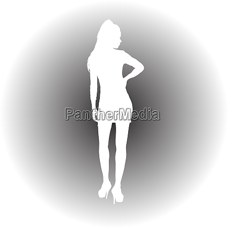 black silhouette of a beautiful girl