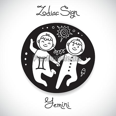 gemini zodiac sign of horoscope circle