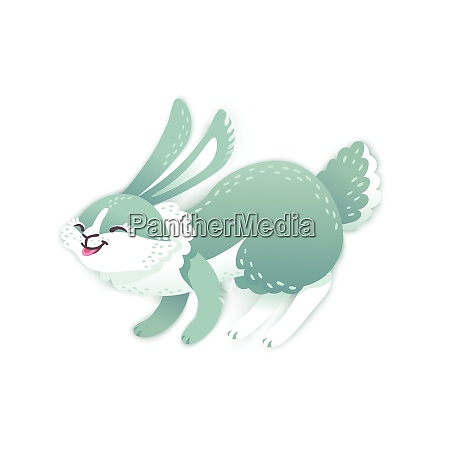 smiling cartoon rabbit funny bunny cute