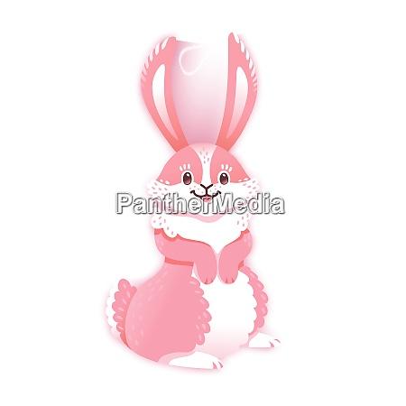 smiling cartoon rabbit funny bunny cute