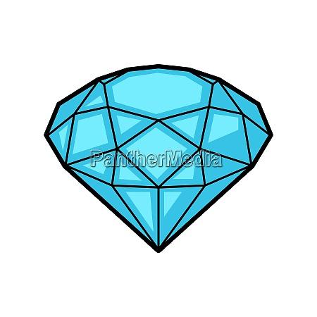 diamond retro tattoo symbol cartoon old