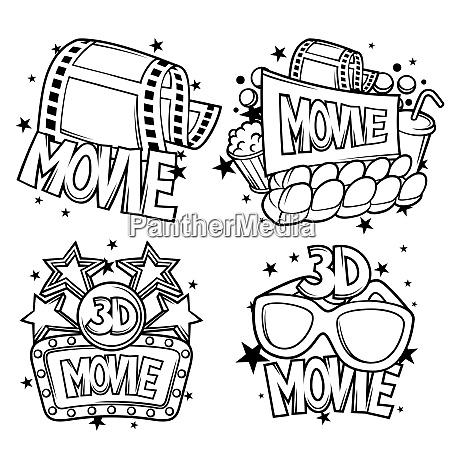 cinema and 3d movie advertising designs