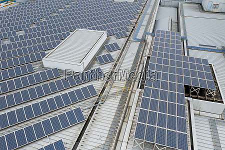 solar panel system in city