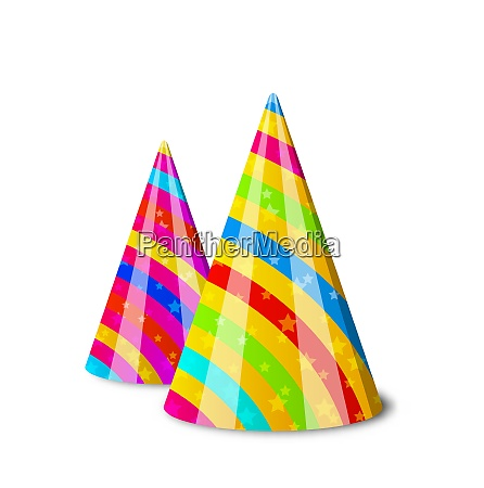 illustration colorful party hats for your