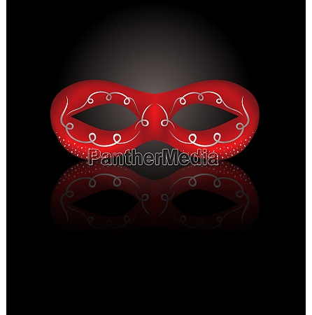 illustration theater red mask with reflection