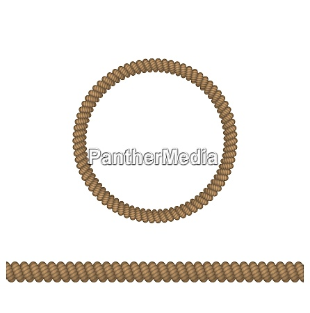 illustration circle and line rope elements