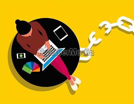 tradlos teknologi frigor kreativ kvinde fra
