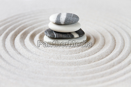 have zen sand sten japansk meditation