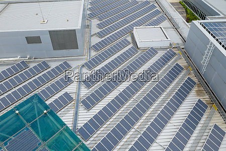 aerial view of solar panel station