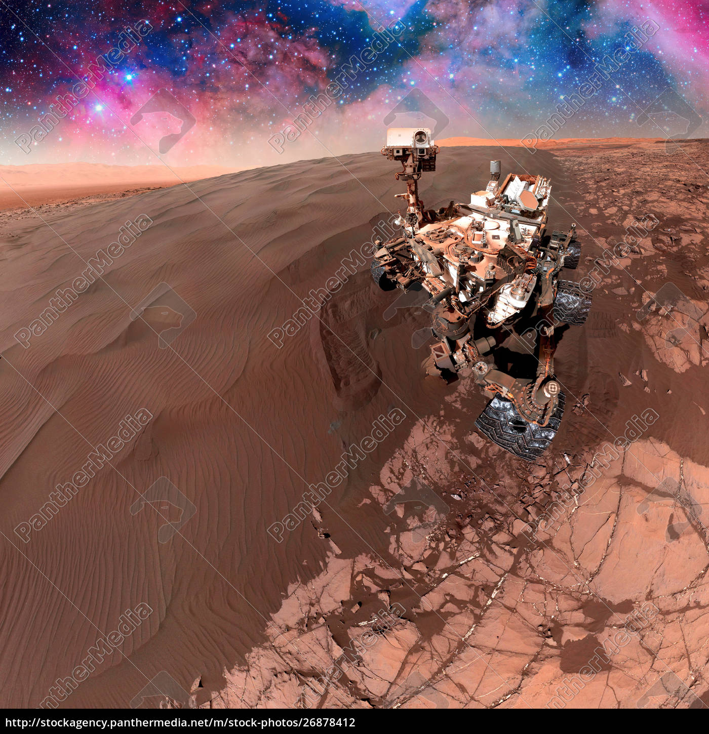 curiosity, rover, exploring, the, surface, of - 26878412