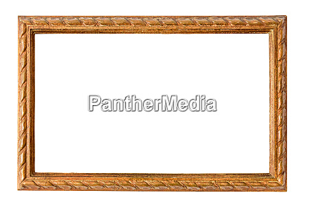 wooden decorative picture frame on white