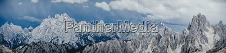 scenic panoramic view rugged mountain peaks