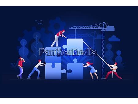 business teamwork concept vector illustration