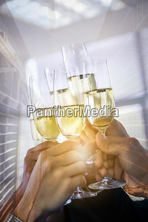 business celebration dobbelt eksponering