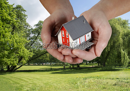 symbol photo house and building plot