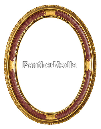 oval golden decorative picture frame