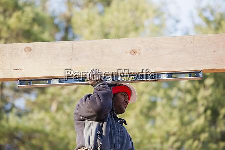 tømrer, måler, vandret, tagbjælke - 27306031