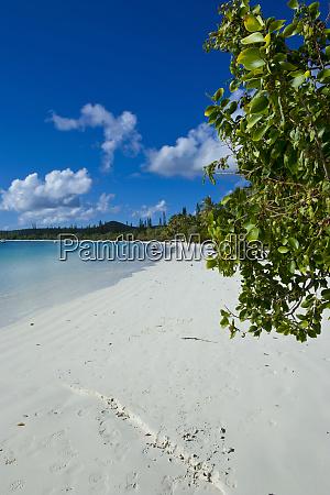 hvid sandstrand bay de kanumera ile