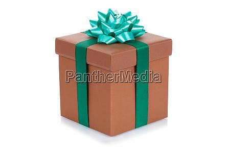 fodselsdag gave julegave brun kasse isoleret
