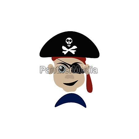 en farlig pirat vektor eller farve