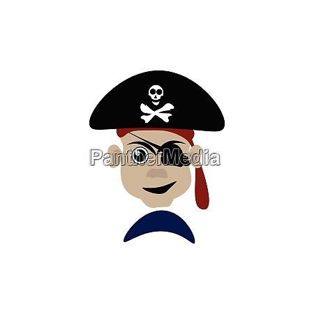 en, farlig, pirat, vektor, eller, farve - 27503080
