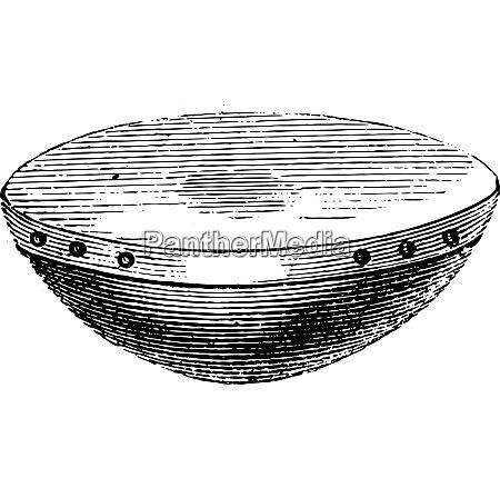 naqareh arabisk eller pauker vintage gravering