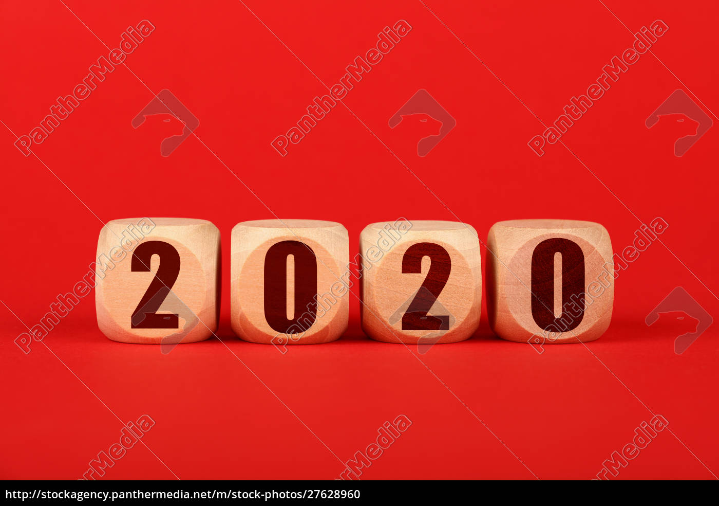 2020, wooden, cube, signs, over, red - 27628960