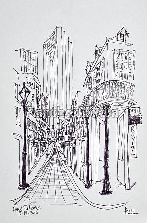 historiske, bygninger, langs, canal, street, det, franske - 27678190