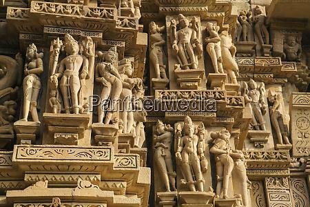 erotiske skulpturer af khajuraho madhya pradesh