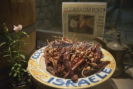 kulinarisk udstilling af foretrukne israelske retter