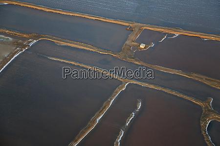 salt works aerial view namib desert