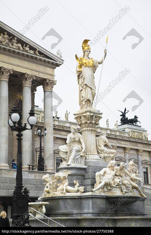 austria, , vienna., a, romanesque, statue, stands - 27750388