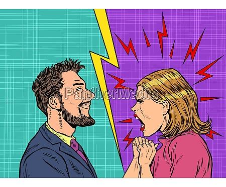 mand og kvinde tvist folelser skrige